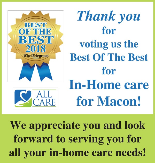 Best of the Best 2018 In-Home Care Provider Macon GA