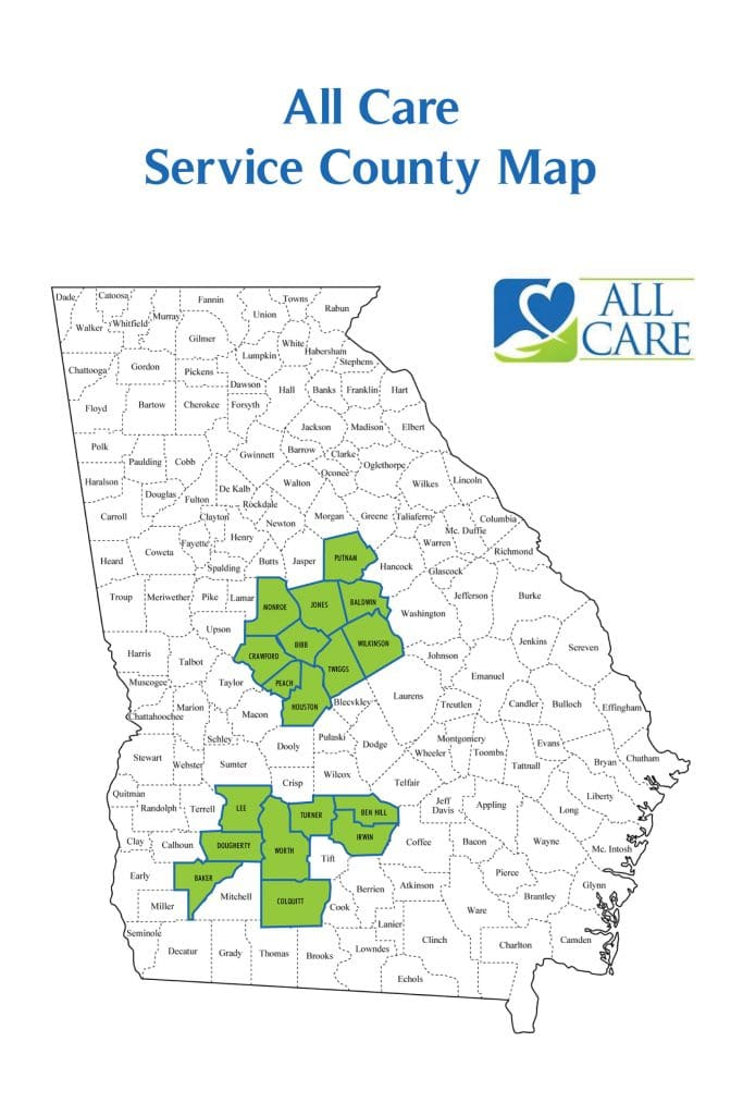 In-Home Care Georgia Service Map