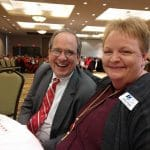 Mayor Robert Reichert was keeping good company with All Care's Ginny Wood