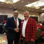 Allen Freeman with Sam Henderson at Senior Holiday Luncheon