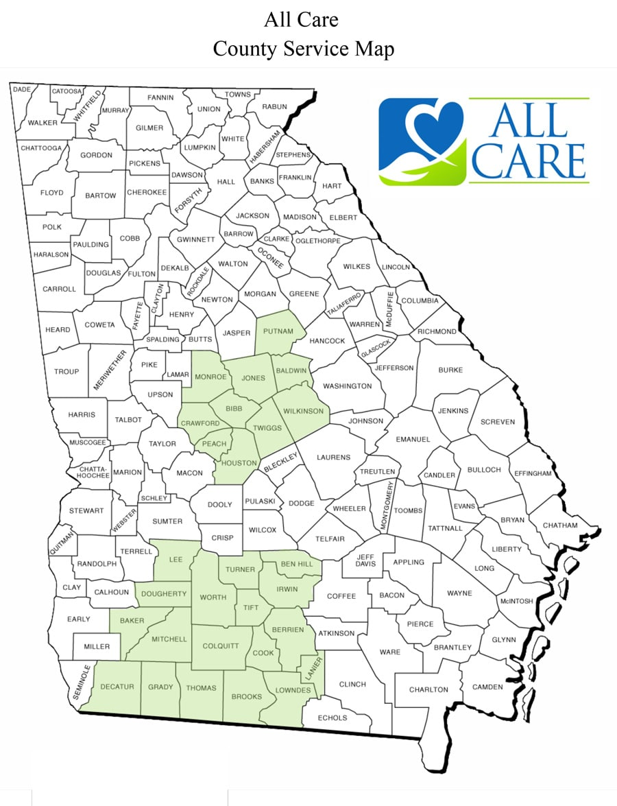 All Care Macon Home Care - All-Care-Service-Map-in-Georgia ... Middle County Map on