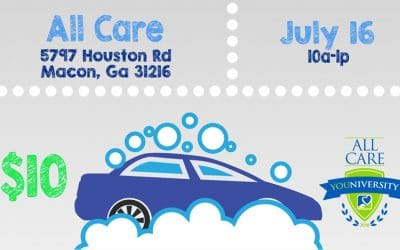 Car Wash Fundraiser Hosted by All Care YOUniversity